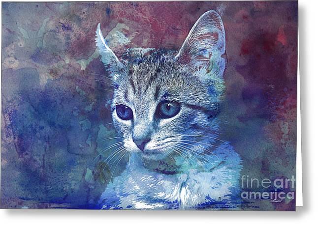 Kitten Greeting Card by Jutta Maria Pusl