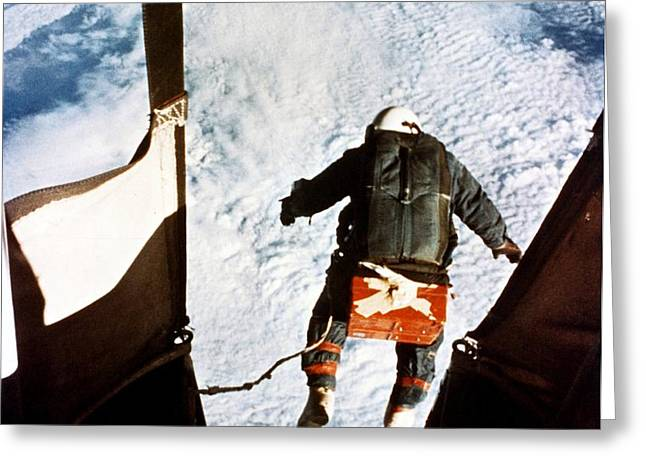 Kittinger Greeting Card by SPL and Photo Researchers