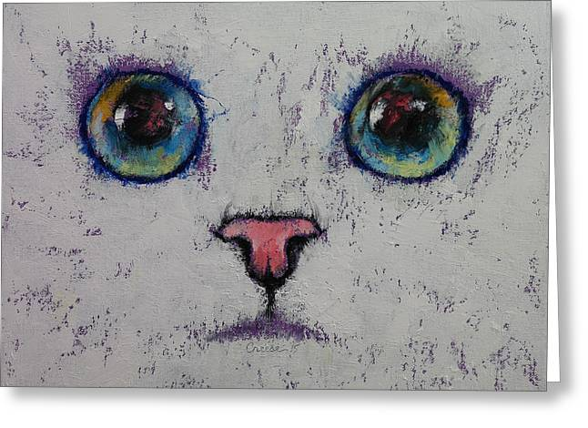 3d Artist Greeting Cards - Kitty Greeting Card by Michael Creese