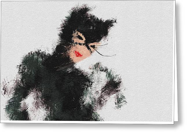 Character Portraits Greeting Cards - Kitty Greeting Card by Miranda Sether