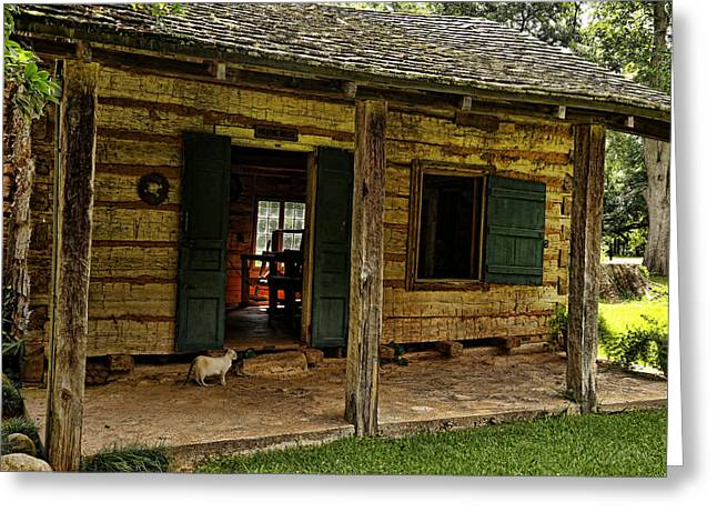Historic Home Greeting Cards - Kittys Kottage Greeting Card by Judy Vincent