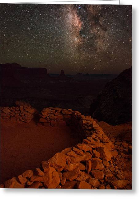 Night Photography Workshop Greeting Cards - Kiva Ring View Greeting Card by Mike Berenson