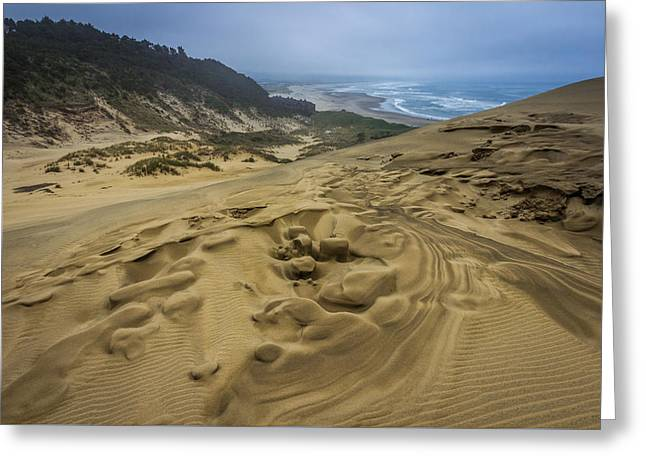 Sand Pattern Greeting Cards - Kiwanda View Greeting Card by Calazones Flics
