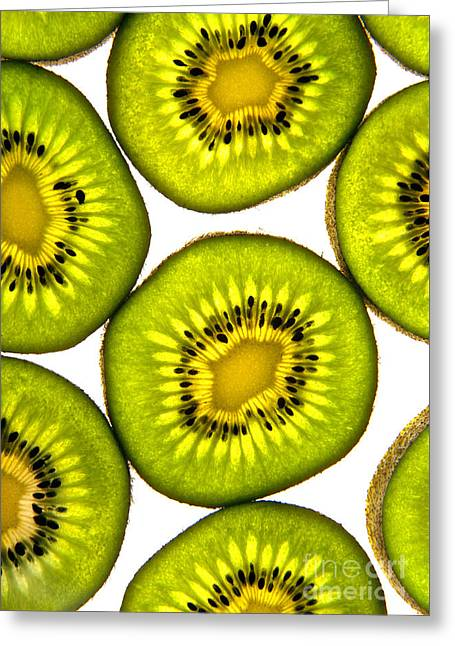 Vitamin C Greeting Cards - Kiwi fruit Greeting Card by Bruce Stanfield