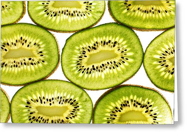 Kiwi Fruit II Greeting Card by Paul Ge