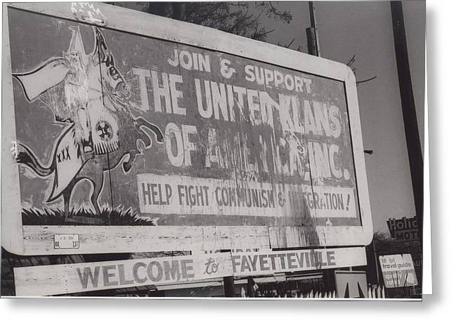 KKK- 1975 Greeting Card by signs of the times collection