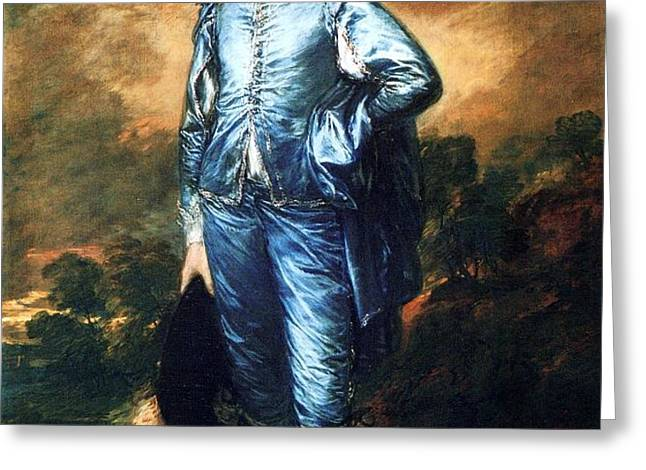 Knabe In Blau Greeting Card by PG REPRODUCTIONS