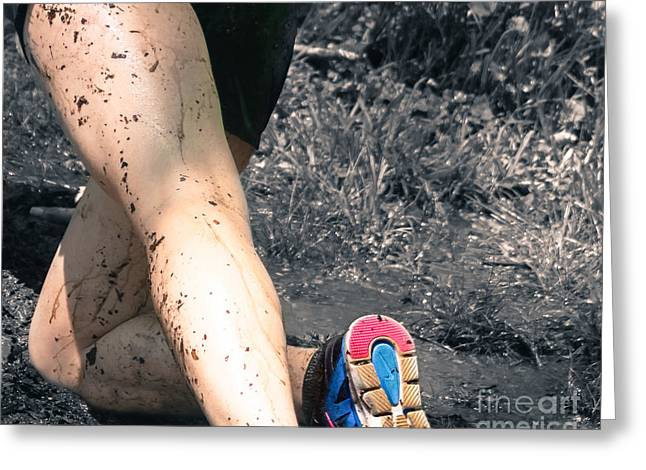 Female Athletics Greeting Cards - Knee Deep  Greeting Card by Steven  Digman