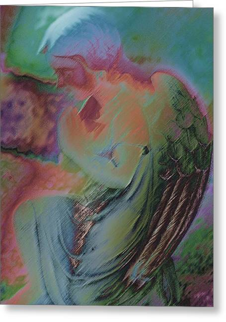 Praying Hands Greeting Cards - Kneeling In Prayer Greeting Card by Kathy Franklin