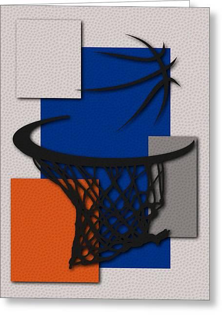 Knicks Hoop Greeting Card by Joe Hamilton
