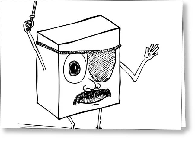 Mustache Greeting Cards - Knife Mustachio Box Greeting Card by Karl Addison