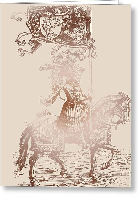 Middle Ages Greeting Cards - Knight in Shining Armor Greeting Card by