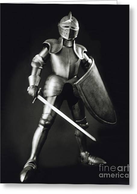 Defend Greeting Cards - Knight Greeting Card by Tony Cordoza