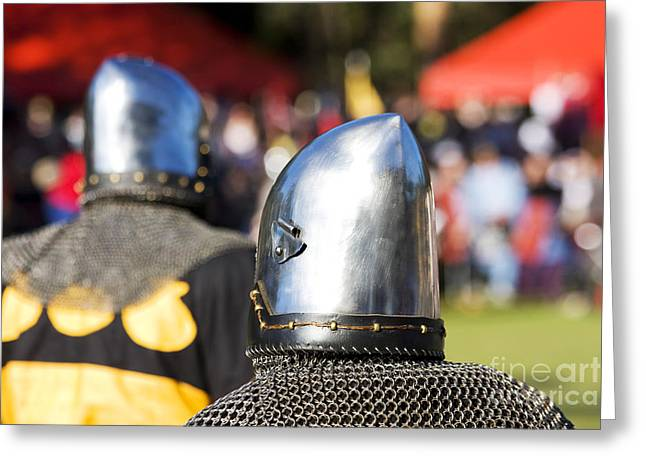 Knight Tournament Greeting Card by Jorgo Photography - Wall Art Gallery