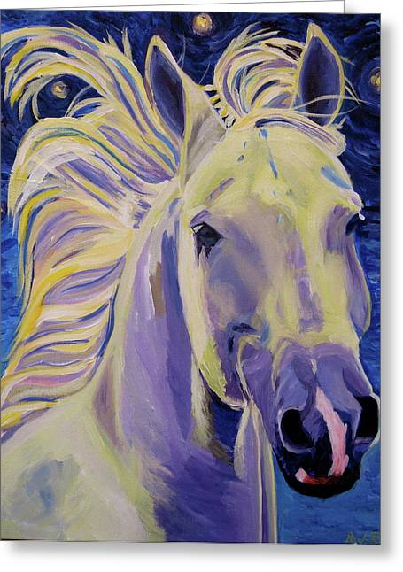 Equine Artists Greeting Cards - Knights in White Satin Greeting Card by Anne West
