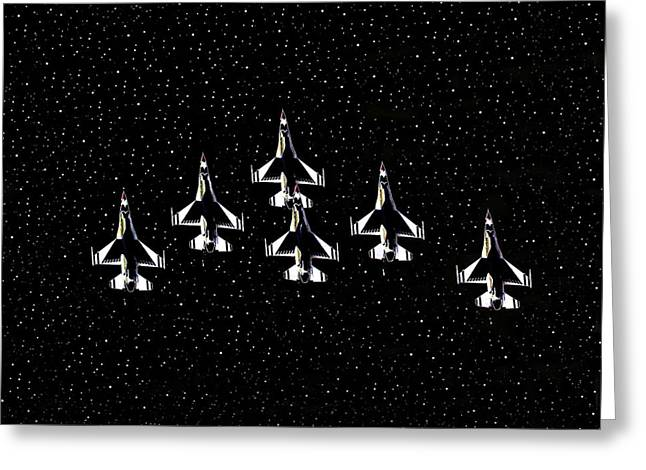 Jet Star Digital Art Greeting Cards - Knights of Thunder Greeting Card by David Lee Thompson