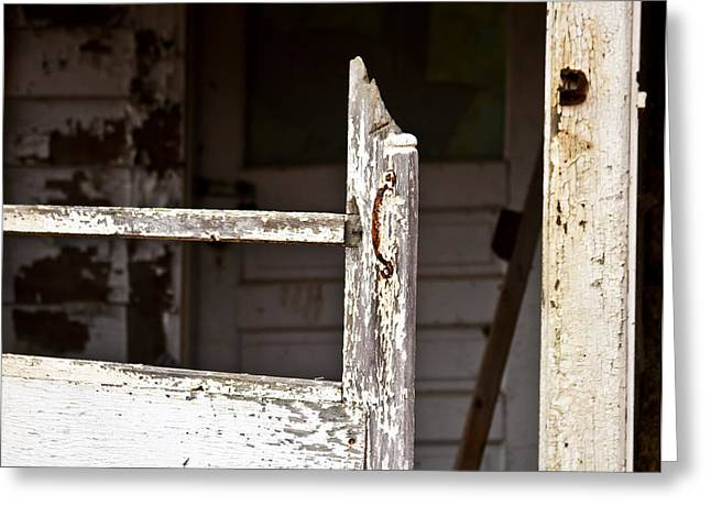 Screen Doors Greeting Cards - Knock Knock Greeting Card by Tim  Fitzwater