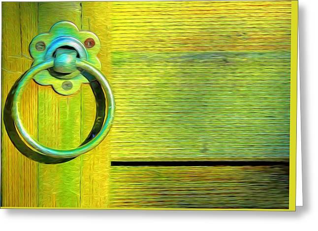 Knock On My Door Greeting Card by Georgiana Romanovna