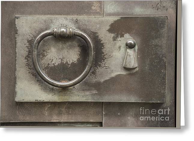 Entrance Door Greeting Cards - Knocker Greeting Card by Juli Scalzi