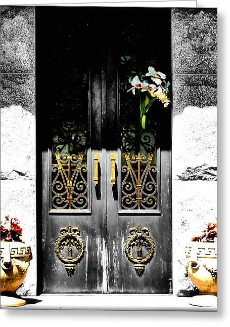 Nature Center Greeting Cards - Knocking on Heavens Door Greeting Card by Karen M Scovill