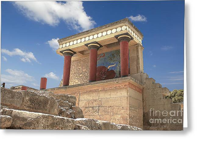 Civilization Greeting Cards - Knossos Palace Greeting Card by Fineart Photographs