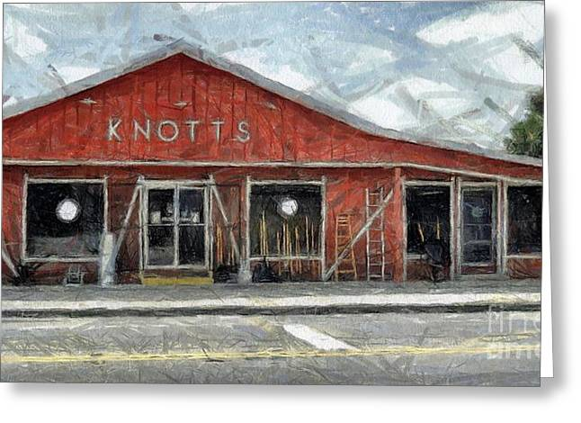 Knott's Hardware Greeting Card by Murphy Elliott