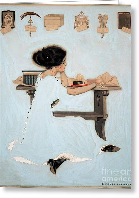 Cole Paintings Greeting Cards - Know all men by these presents Greeting Card by Coles Phillips