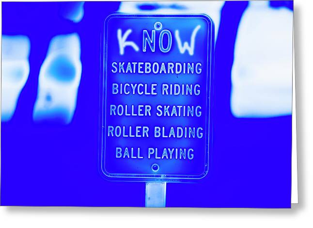 kNOw Rules Greeting Card by Jeremy Rickman
