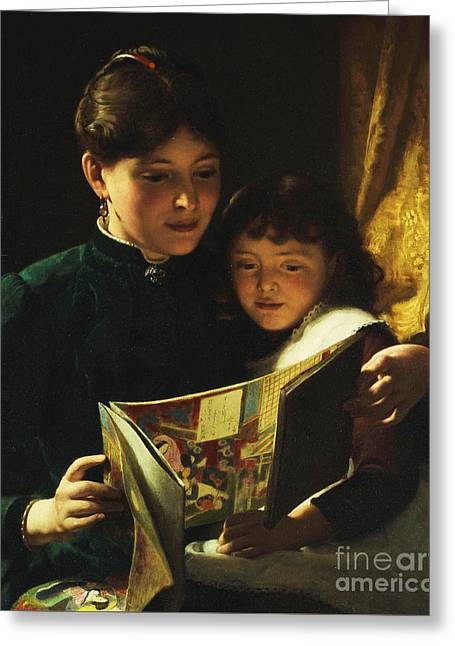 Knowledge Is Power Greeting Card by Seymour Joseph Guy
