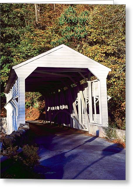 Knox Covered Bridge - Valley Forge Greeting Cards - Knox Covered Bridge Greeting Card by Sally Weigand
