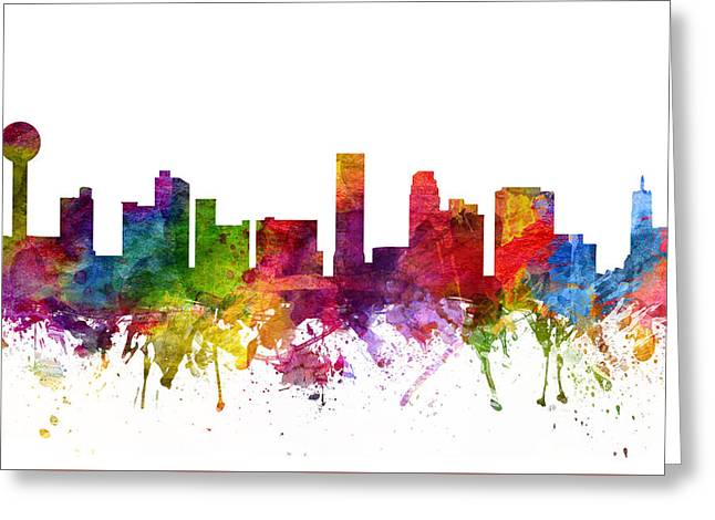 Tennessee Drawings Greeting Cards - Knoxville Cityscape 06 Greeting Card by Aged Pixel