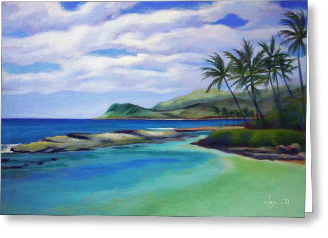 Koolina Greeting Cards - Ko Olina Afternoon Greeting Card by Angela Treat Lyon