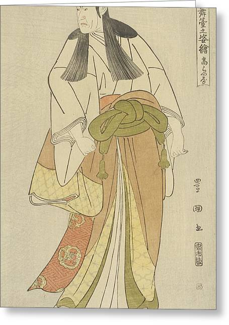 Ko Raiya Greeting Card by Utagawa Toyokuni