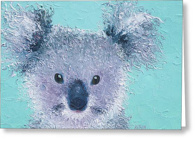 Quirky Paintings Greeting Cards - Koala Greeting Card by Jan Matson