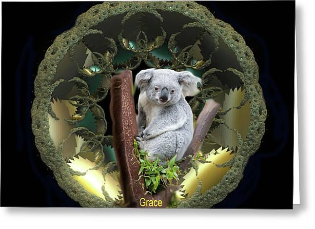 Koala Digital Greeting Cards - Koala Greeting Card by Julie  Grace