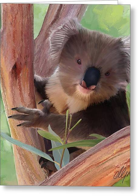 Time2paint Greeting Cards - Koala  Painting Greeting Card by Michael Greenaway