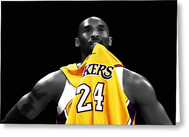 Kobe Bryant 04c Greeting Card by Brian Reaves