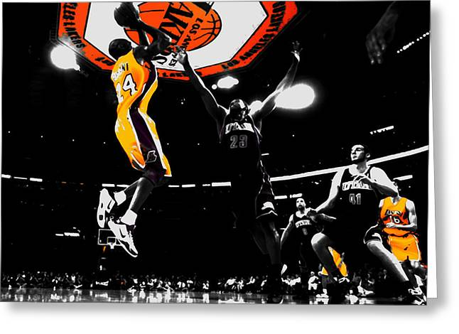 Kobe Bryant Count It Greeting Card by Brian Reaves