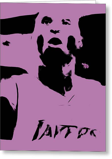 Karl Malone Greeting Cards - Kobe Bryant Crunch Time Greeting Card by Brian Reaves