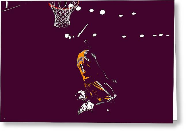 Kobe Bryant In Flight 08b Greeting Card by Brian Reaves