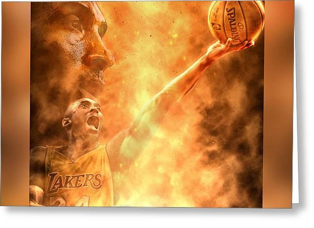 Bryant Greeting Cards - Kobe Bryant Greeting Card by Mario Aguilar