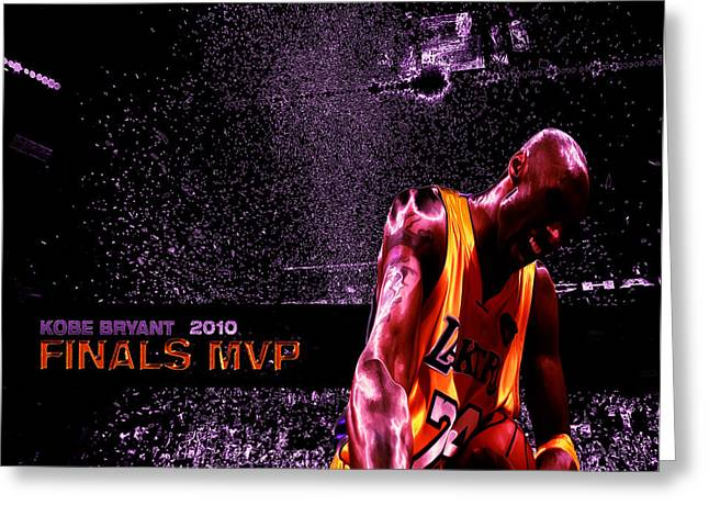 Shaq Greeting Cards - Kobe Bryant NBA Finals Greeting Card by Brian Reaves