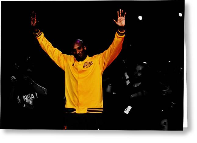 Kobe Bryant Thanks For The Memories Greeting Card by Brian Reaves