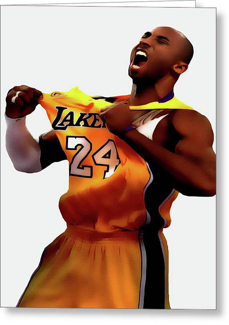 Kobe Sweet Victory 2 Greeting Card by Brian Reaves
