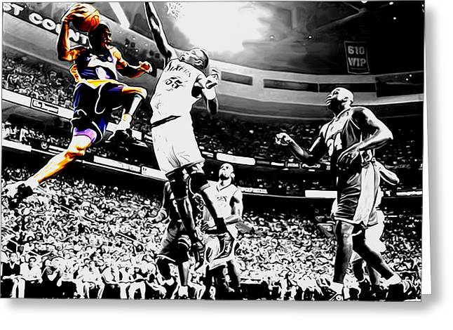 Kobe Taking Flight Greeting Card by Brian Reaves