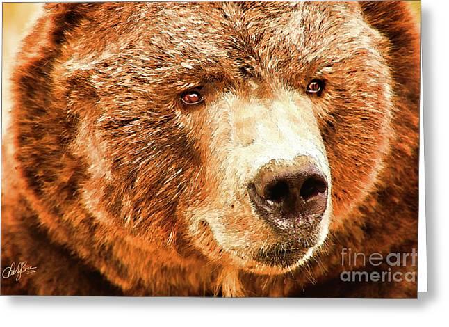 Kodiak Bear Greeting Card by Cheryl Rose