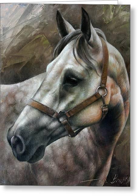 Horse Greeting Cards - Kogarashi Greeting Card by Arthur Braginsky