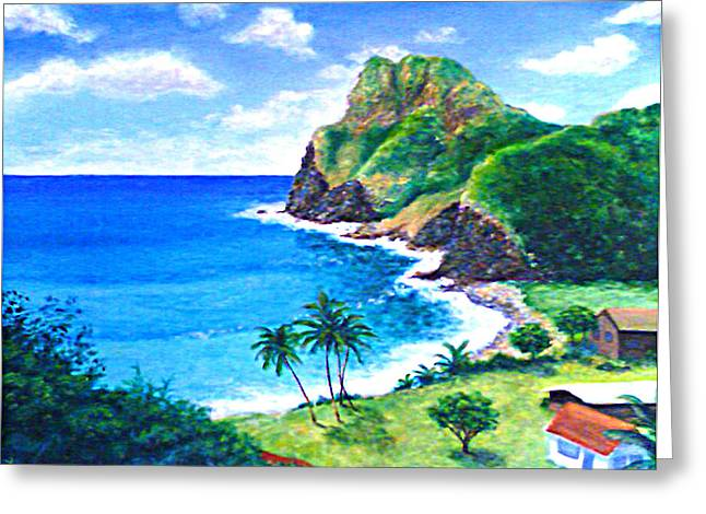 Seacape Greeting Cards - Kohakaloa Greeting Card by Karen Lang