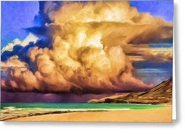 Lahaina Greeting Cards - Kohala Storm Clouds Greeting Card by Dominic Piperata