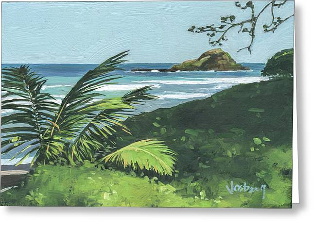 Koki Beach And Alau Island Hana Greeting Card by Stacy Vosberg